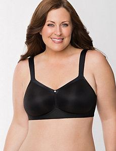 Lightly lined no-wire bra
