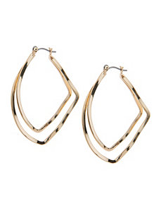 Modern teardrop earrings by Lane Bryant