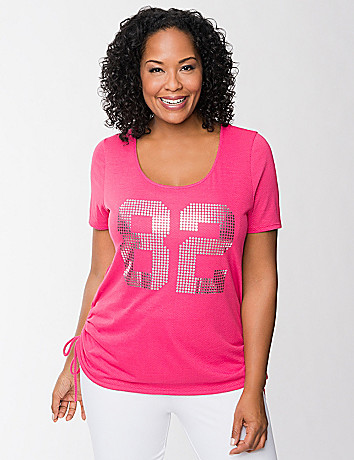 Inspire ruched burnout tee