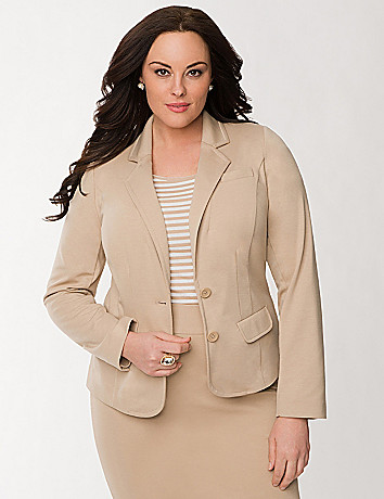 Fitted ponte jacket