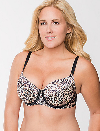 Satin push up balconette bra