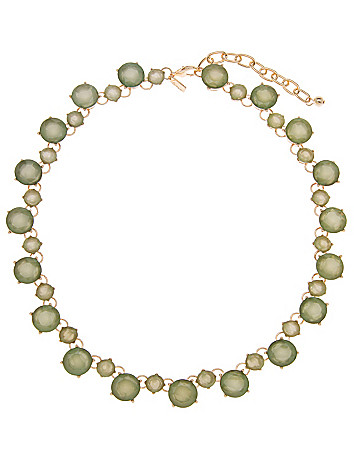 Faceted stone necklace by Lane Bryant