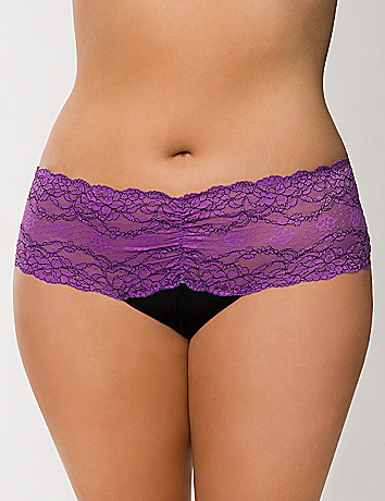 Plus Size Crotchless Panty with Bow by Cacique