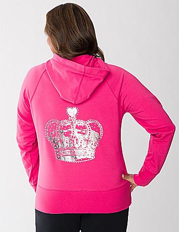 Crown embellished hoodie