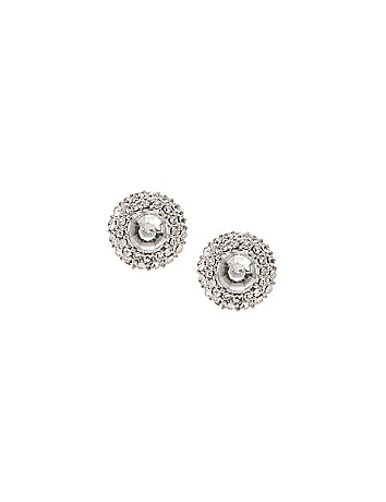 Button earrings by Lane Bryant