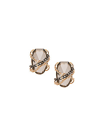 Chain wrapped stone earrings by Lane Bryant