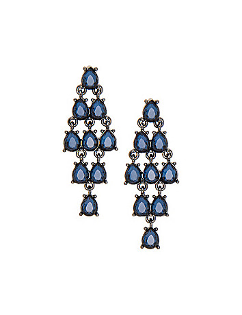Stone chandelier earrings by Lane Bryant