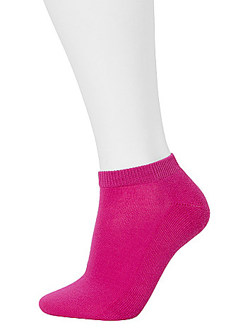 Polka Dot & Solid Crew Socks 2 Pack by Lane Bryant