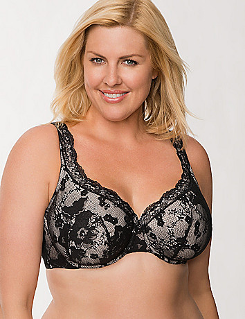 Bold lace full coverage bra by Cacique