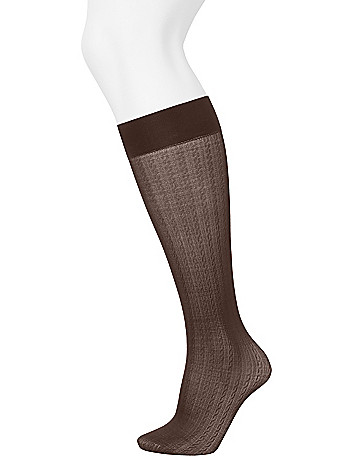 Cable & solid trouser sock 2-pack