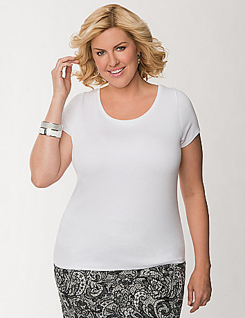 Delicate ribbed tee