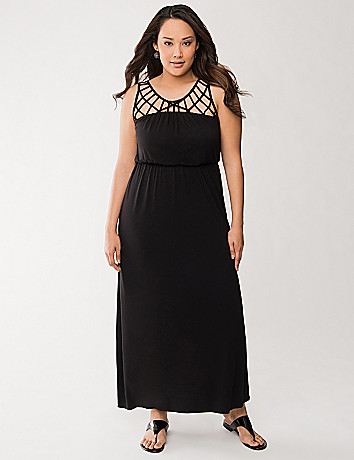 Lattice maxi dress