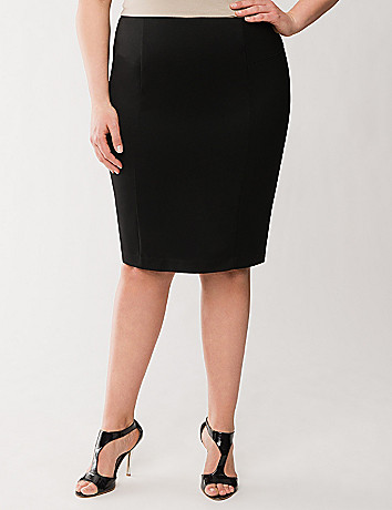 Lane Collection flounce back pencil skirt