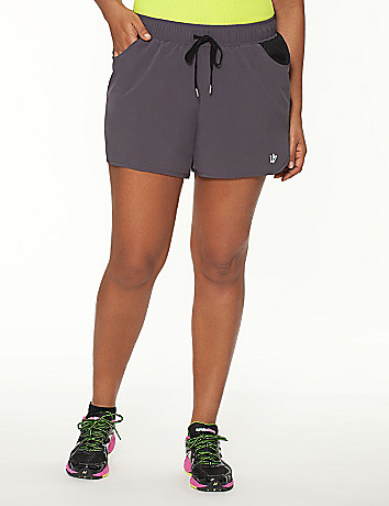 Plus Size Active Short with Mesh by Lane Bryant