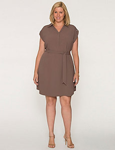 Short sleeve shirt dress