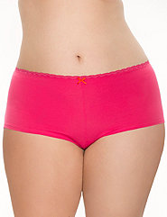 Sassy Cotton Boyshort Panty With Lace Productid
