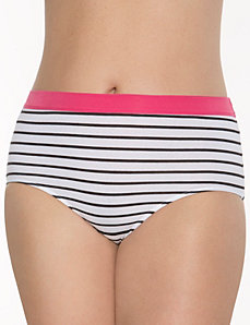 Sassy cotton brief with knit waistband
