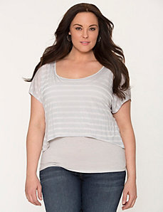 Layered look striped top