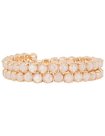 Coiled stone bracelet by Lane Bryant