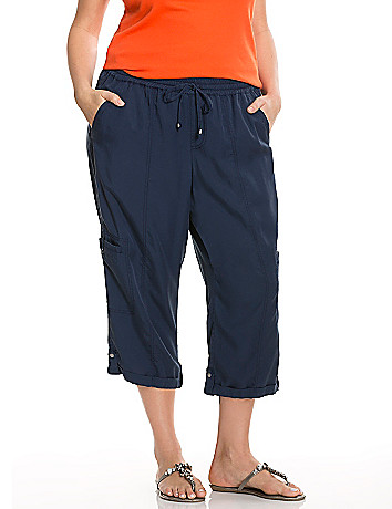 Plus size resort wear soft capri pant