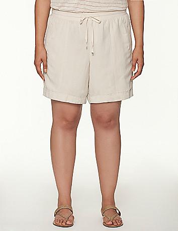 Knit waist linen short