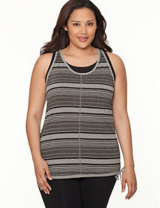 Burnout striped active tank