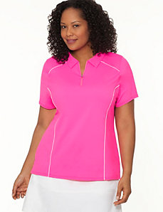 COOL4YOU zip front polo