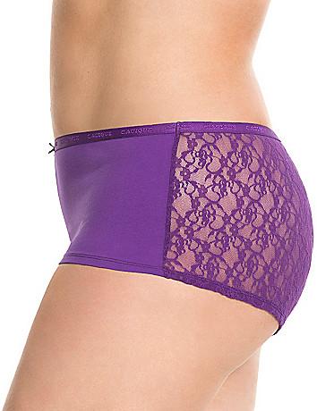 Lace back cotton boyshort panty