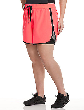 Colorblock layered active short