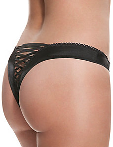 Lace up thong panty