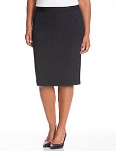 Seamed ponte pencil skirt