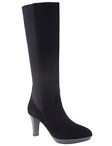 Camilla leather heeled boot