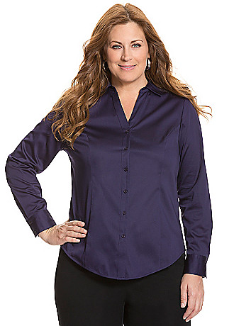 Womens plus size tailored shirt