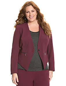 Tailored Stretch zipped pointed jacket