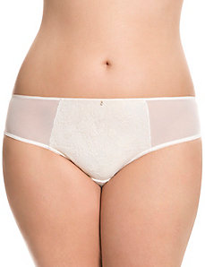 Foiled bold lace tanga panty