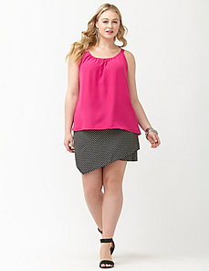 Double layered woven cami