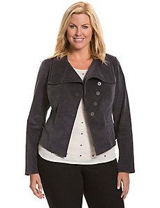 Asymmetric corduroy jacket