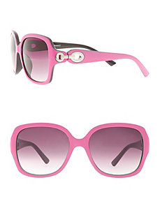 Square frame sunglasses with circle detail