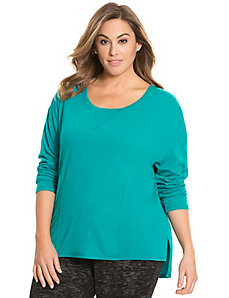 Seamed long sleeve tee