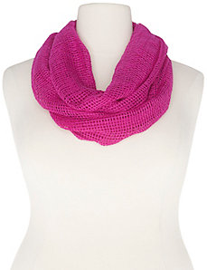 Textured mesh infinity scarf