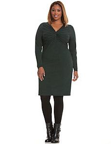 Twist front sweater dress