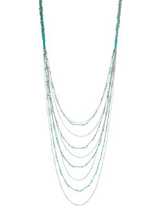 Cord & bead layered necklace