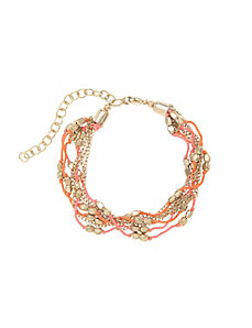Thread & bead multi-strand bracelet