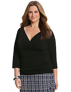 Simply Chic matte Jersey surplice top