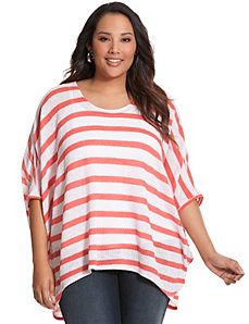Striped cocoon top