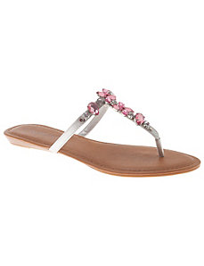 Jeweled thong sandal