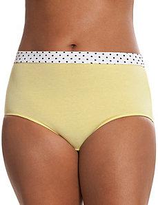 Sassy cotton brief with knit waist