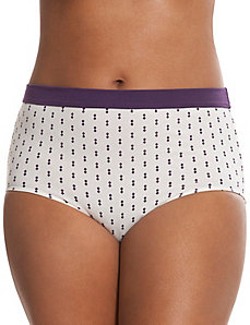 Sassy cotton brief with printed waist