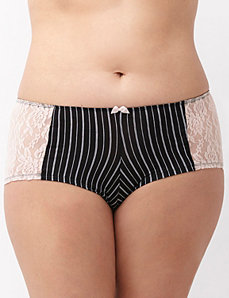 Dazzler boyshort panty with lace