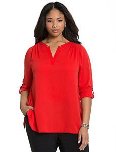 Split back blouse